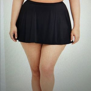 Black Torrid 3X High Waist swim skirt NWOT
